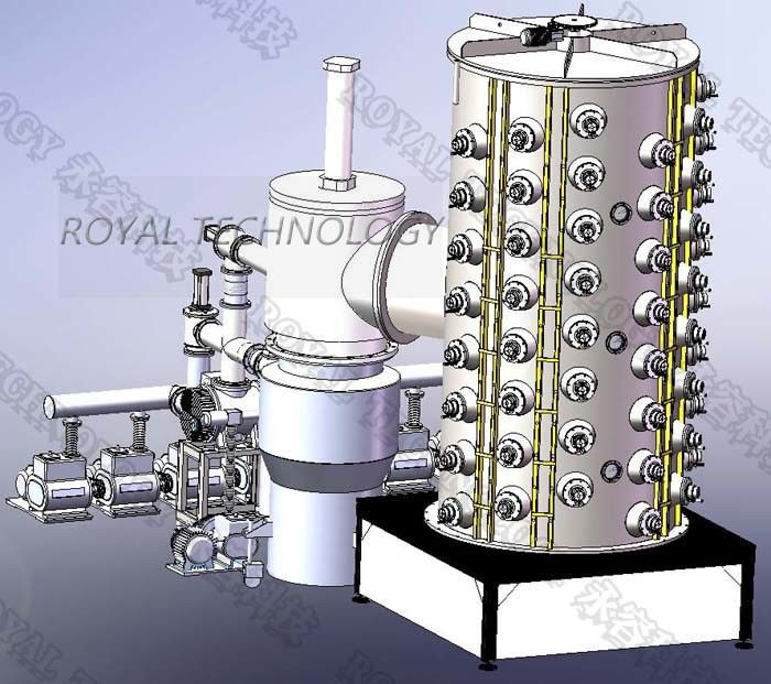 Metal Table  Pvd Gold Coating Machine , Stainless Steel Furniture TiN Gold Coating Equipment